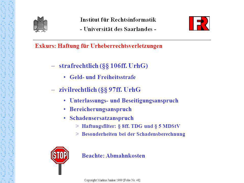 Copyright Markus Junker 1999 [Folie Nr. 48]